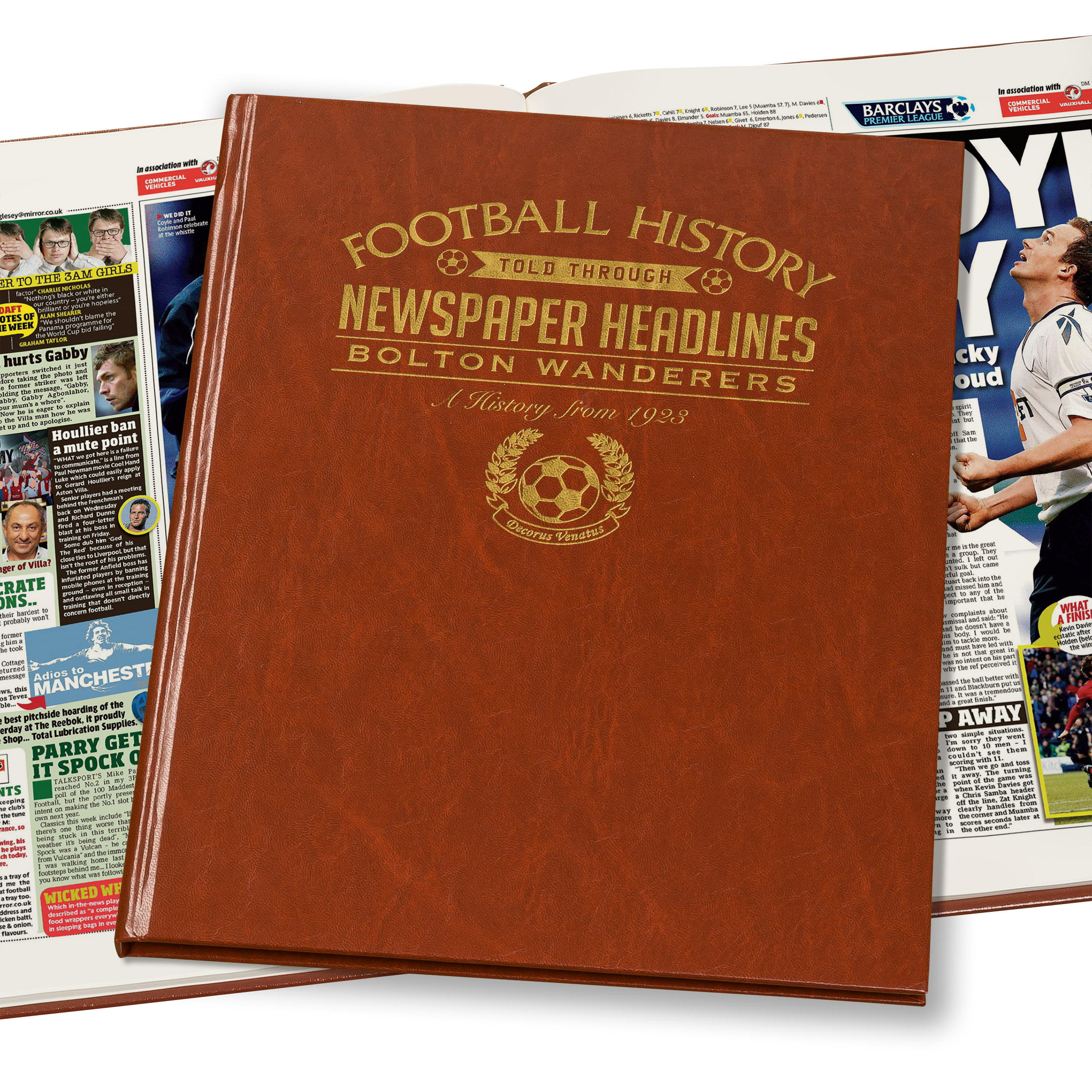 Bolton Football Newspaper Book (Colour Pages)