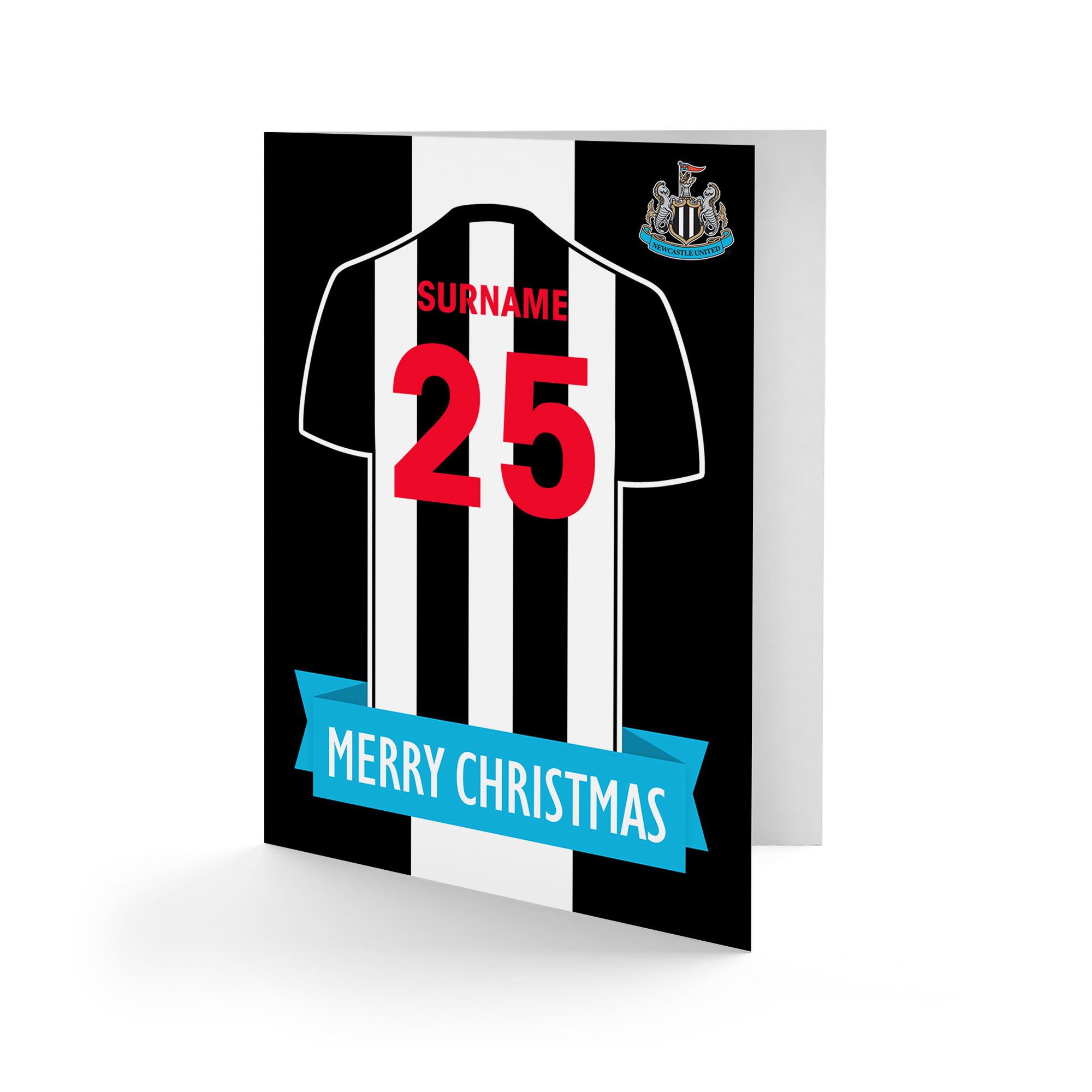 Newcastle United FC Shirt Christmas Card