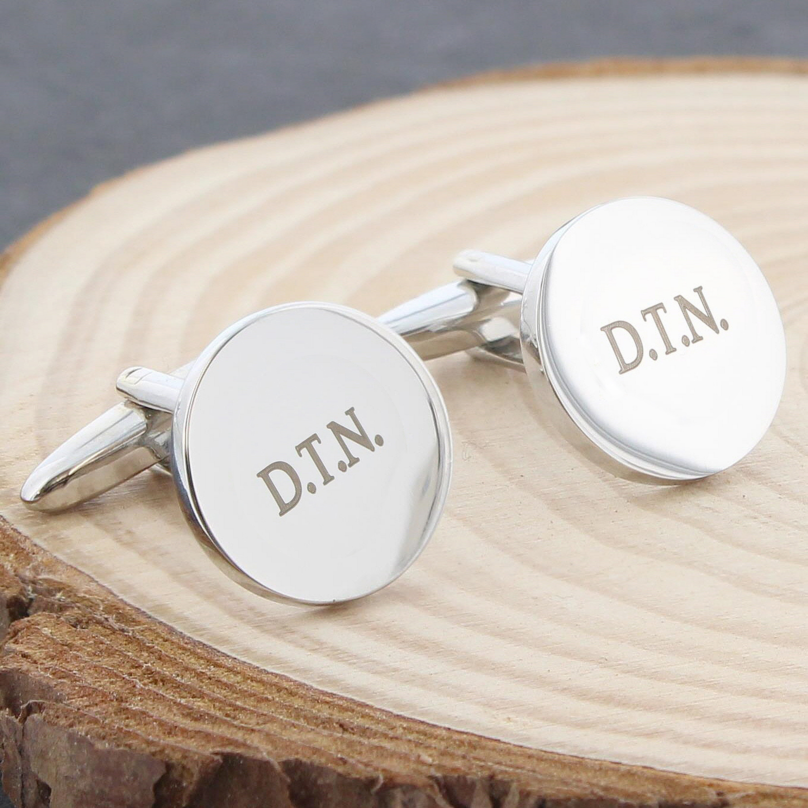 Engraved Round Fathers Day Cufflinks