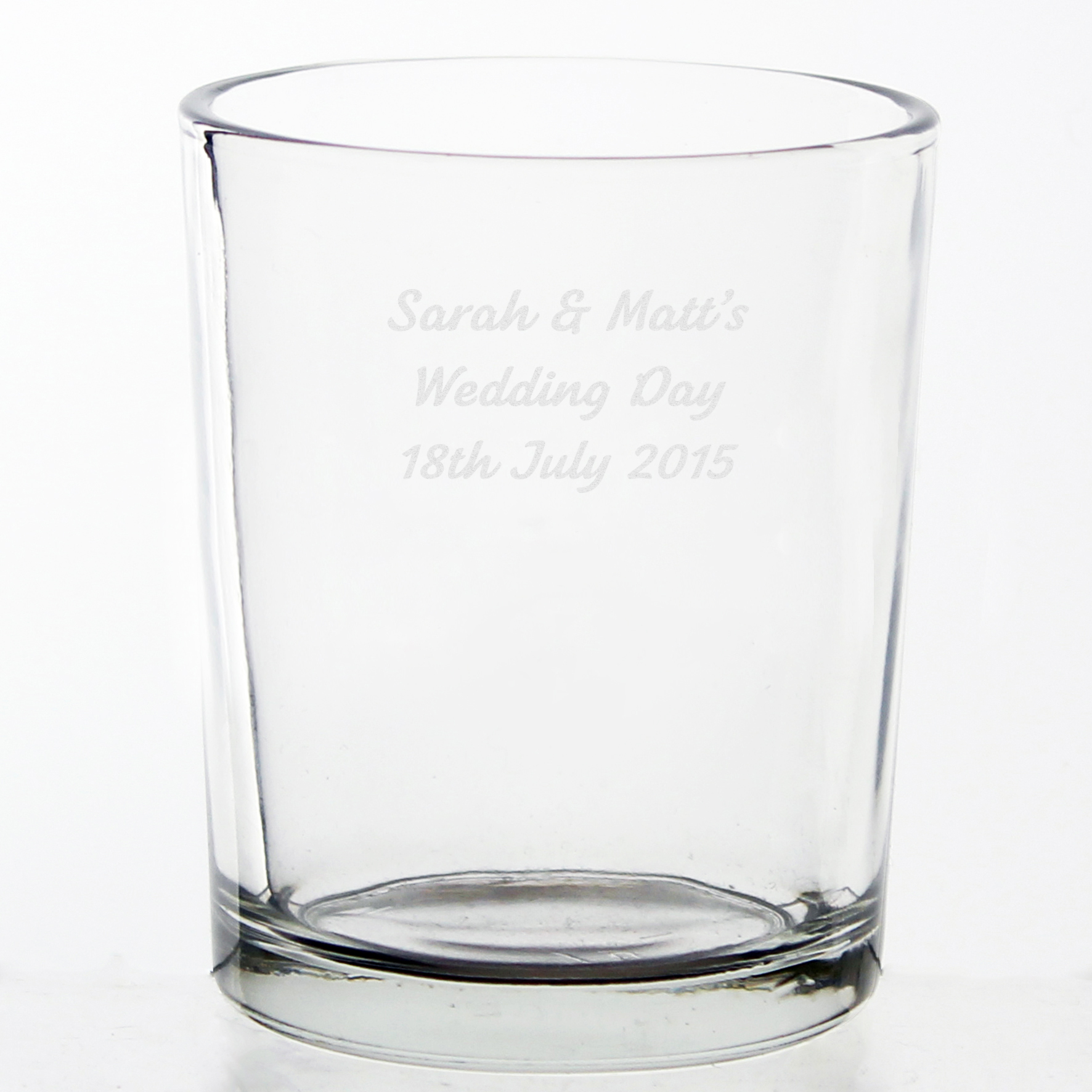 Engraved Votive Candle Holder