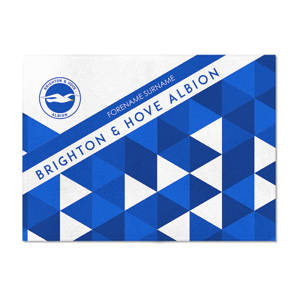 Brighton & Hove Albion FC Patterned Blanket (150cm x 110cm)