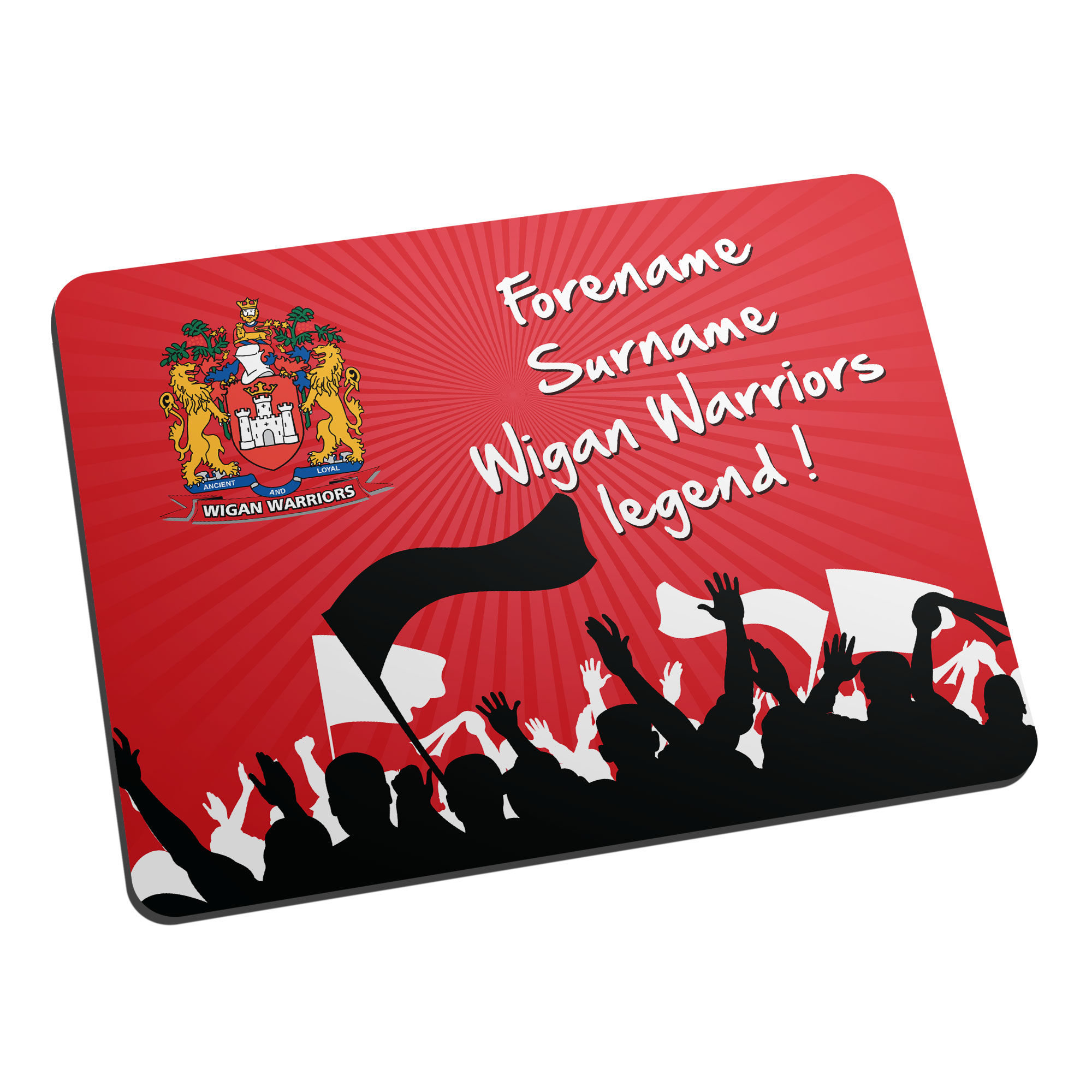 Wigan Warriors Legend Mouse Mat