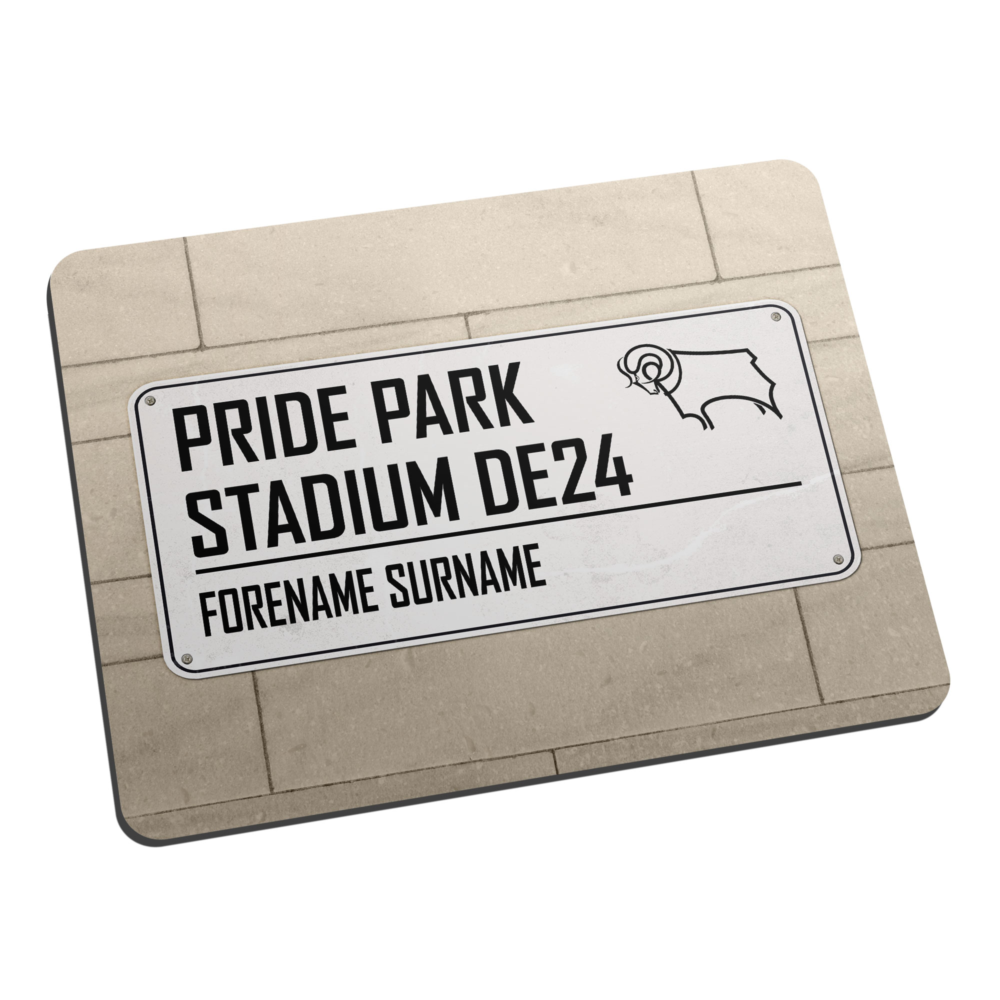 Derby County Street Sign Mouse Mat