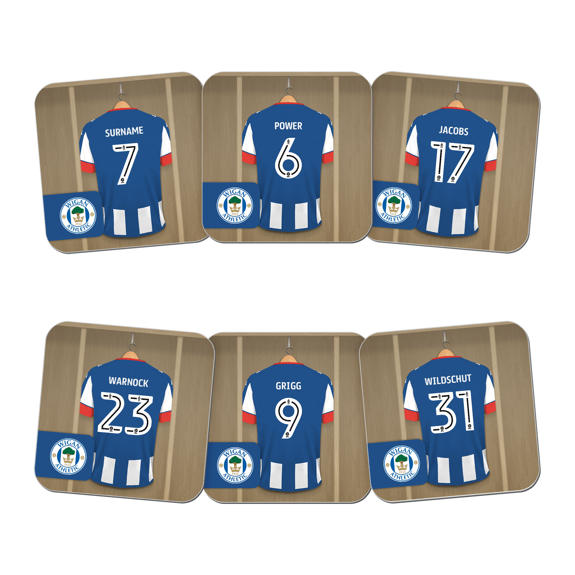 Wigan Athletic FC Dressing Room Coasters