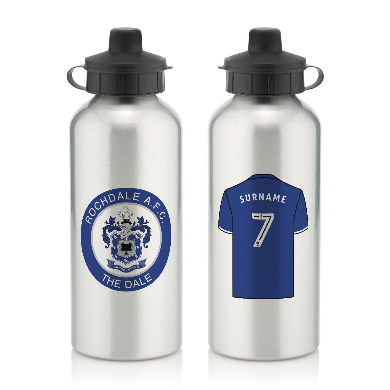 Rochdale AFC Aluminium Water Bottle