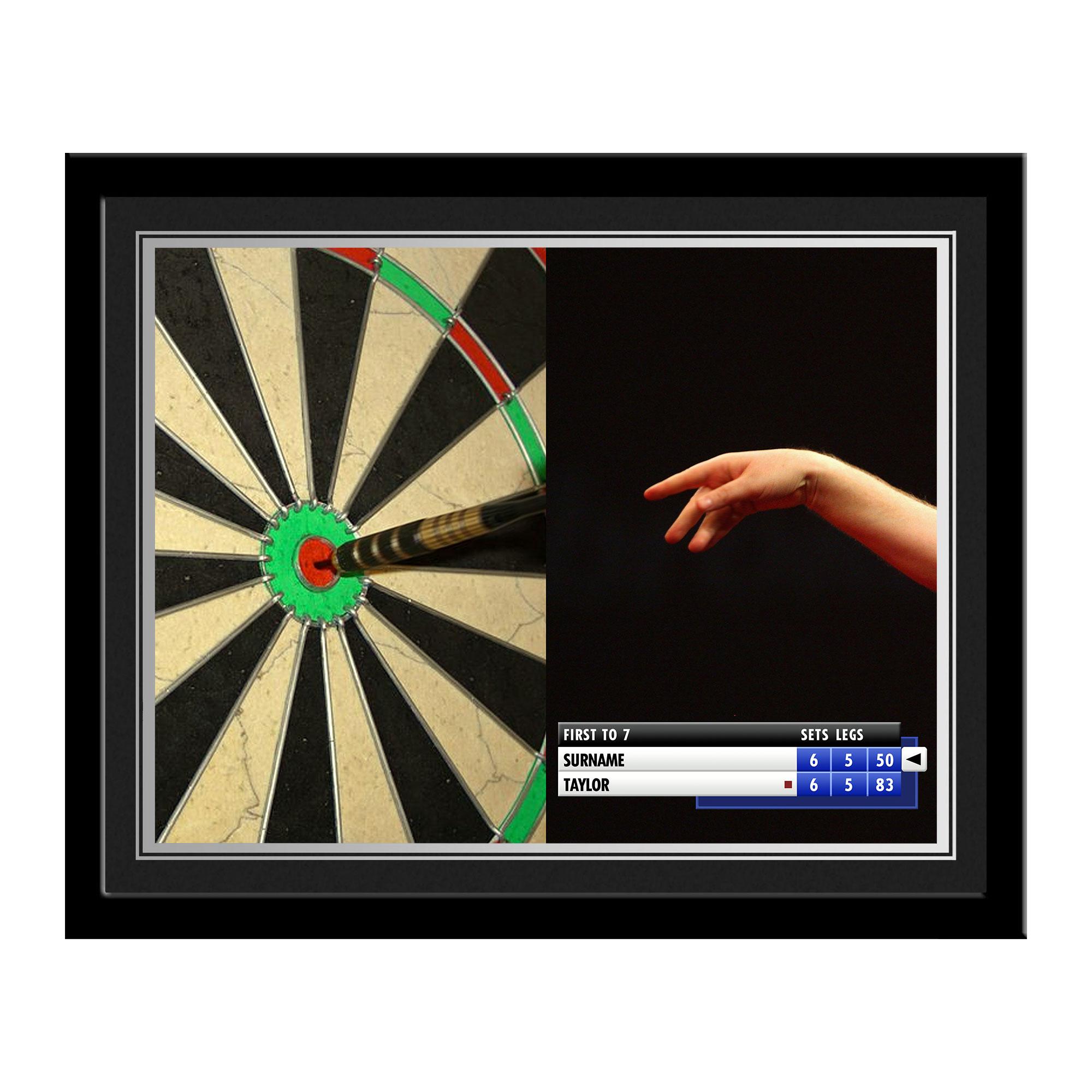 Personalised Darts Photo Frame