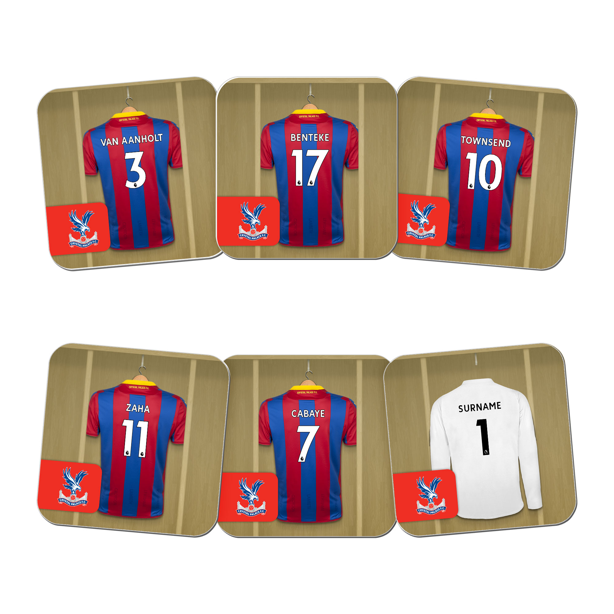 Crystal Palace FC Goalkeeper Dressing Room Coasters