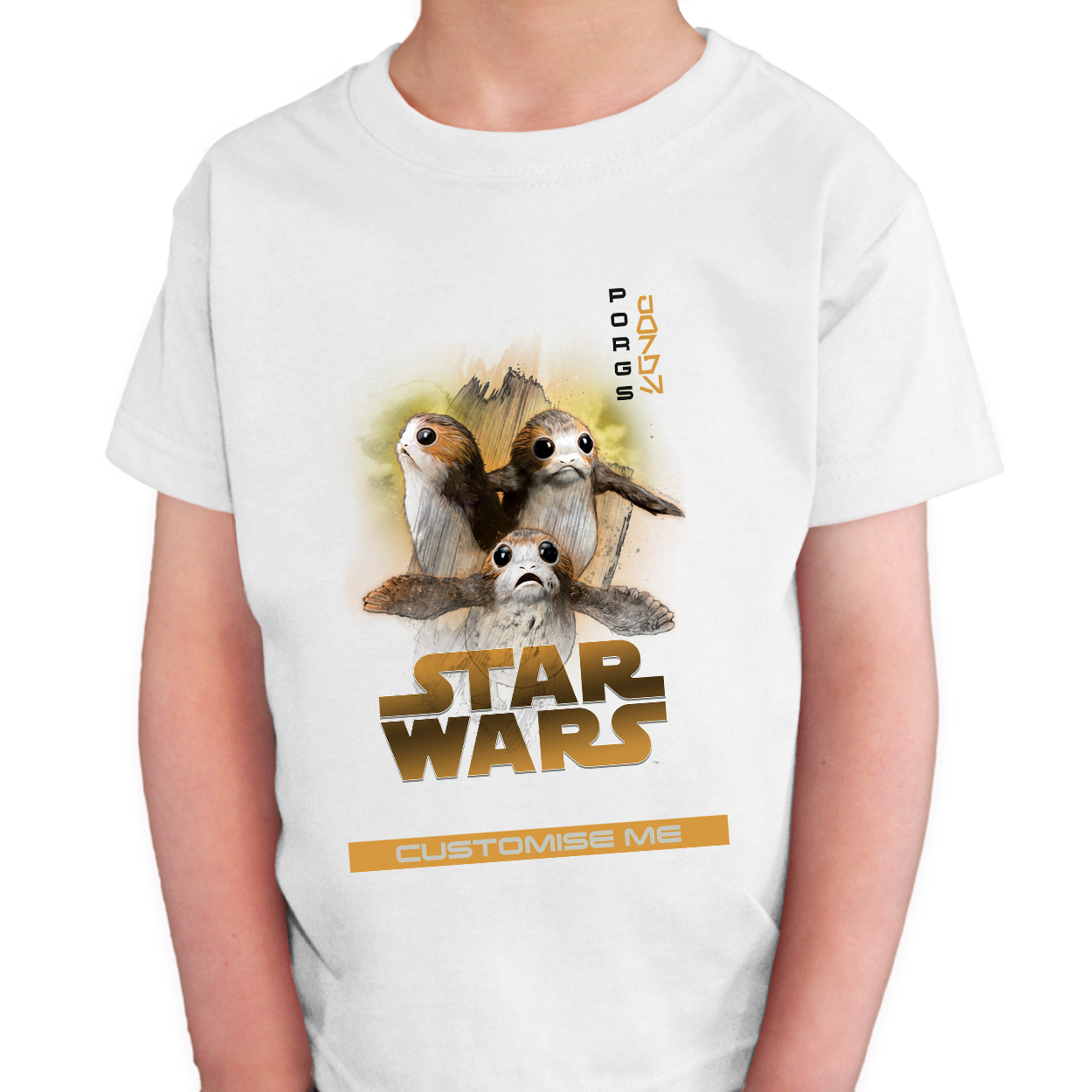 Star Wars Porg Last Jedi Spray Paint Kids T-shirt