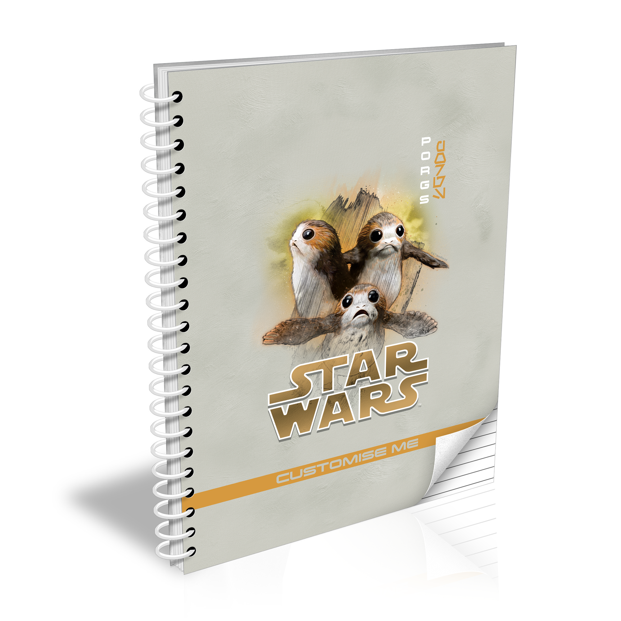 Star Wars Porg Last Jedi Spray Paint A5 Notebook