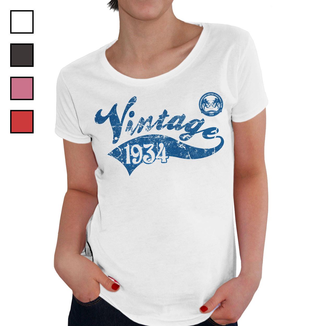 Peterborough United FC Ladies Vintage T-Shirt