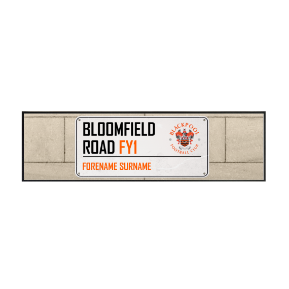 Blackpool Street Sign Large Bar Runner