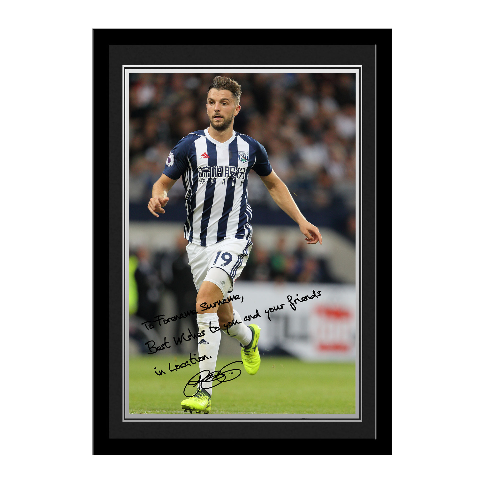 West Bromwich Albion FC Rodriguez Autograph Photo Framed