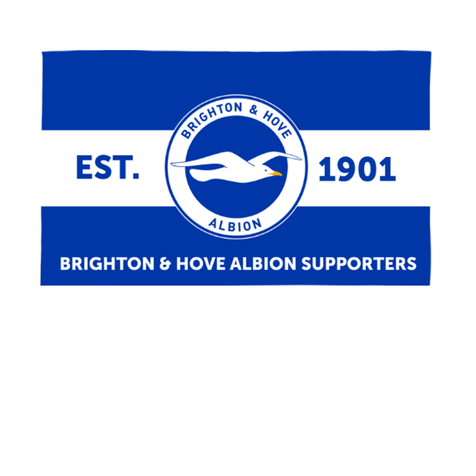 Brighton & Hove Albion FC Supporters 5ft x 3ft Banner