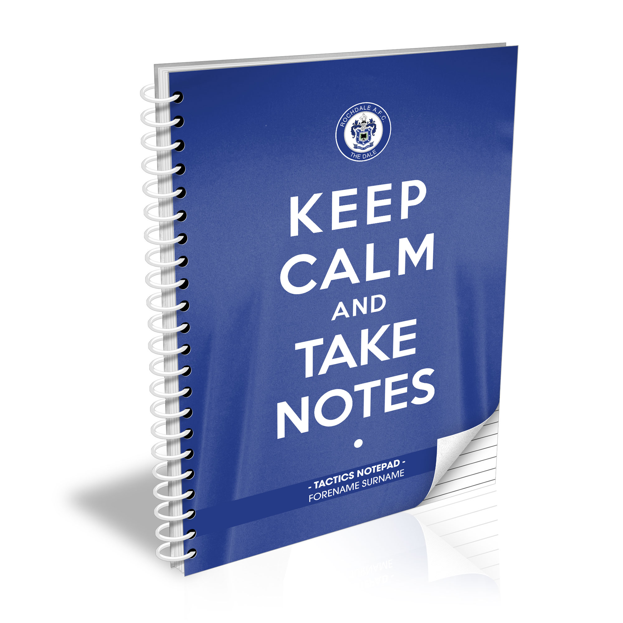 Rochdale AFC Keep Calm Notebook