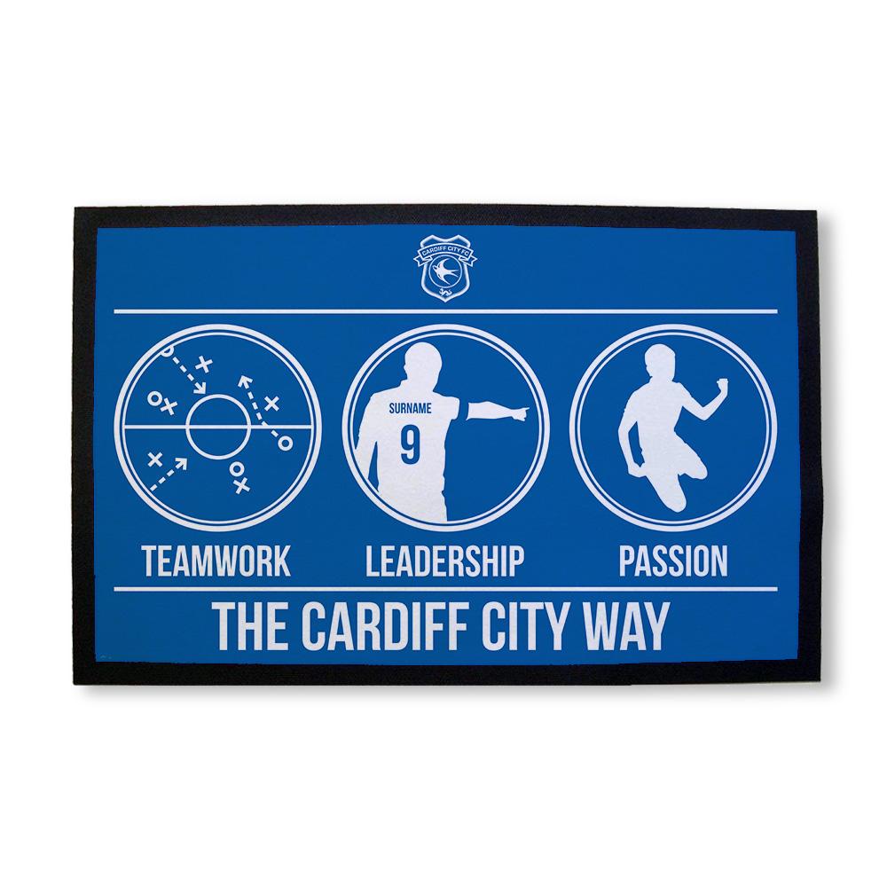 Cardiff City FC Way Door Mat