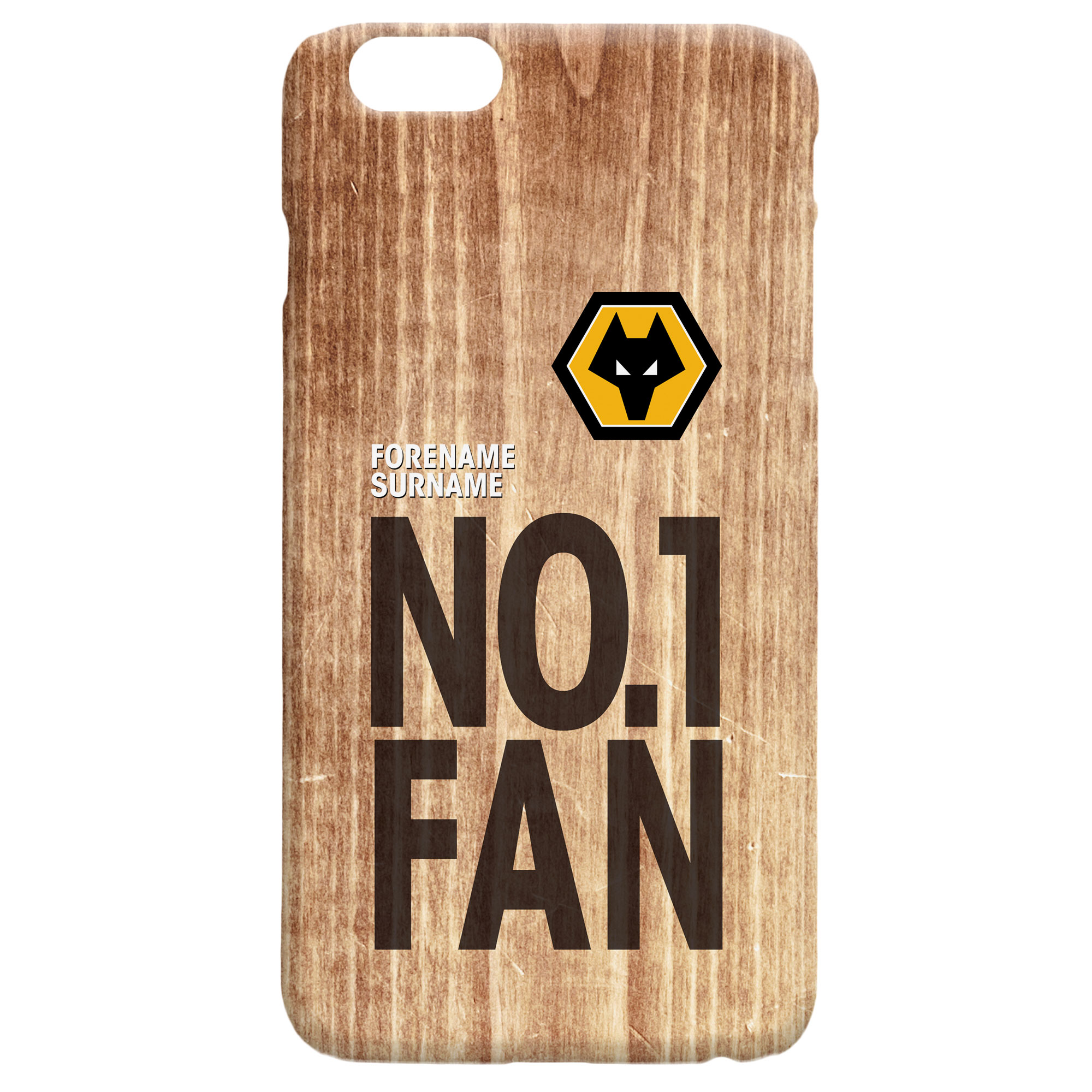 Wolves No 1 Fan Hard Back Phone Case