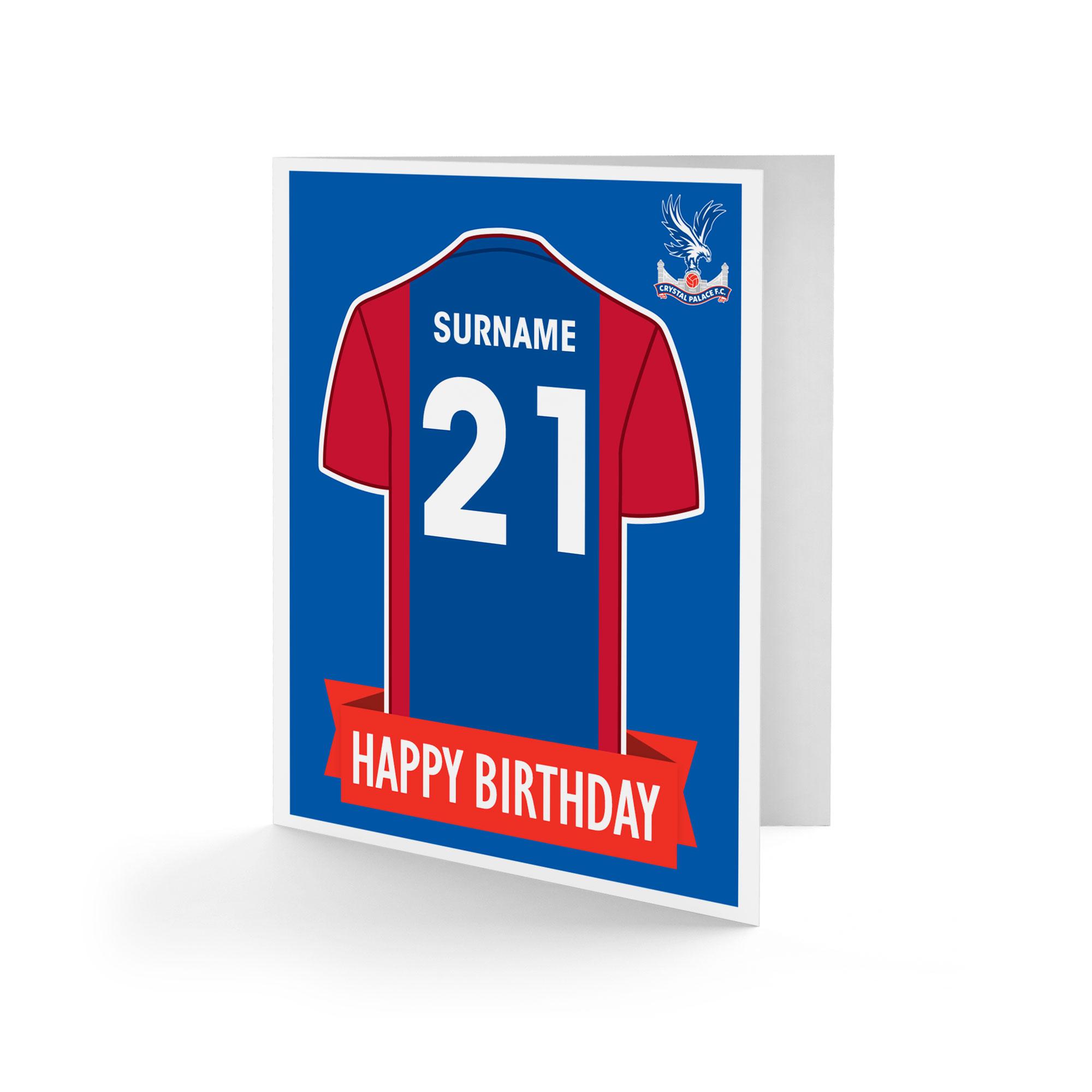 Crystal Palace FC Shirt Birthday Card