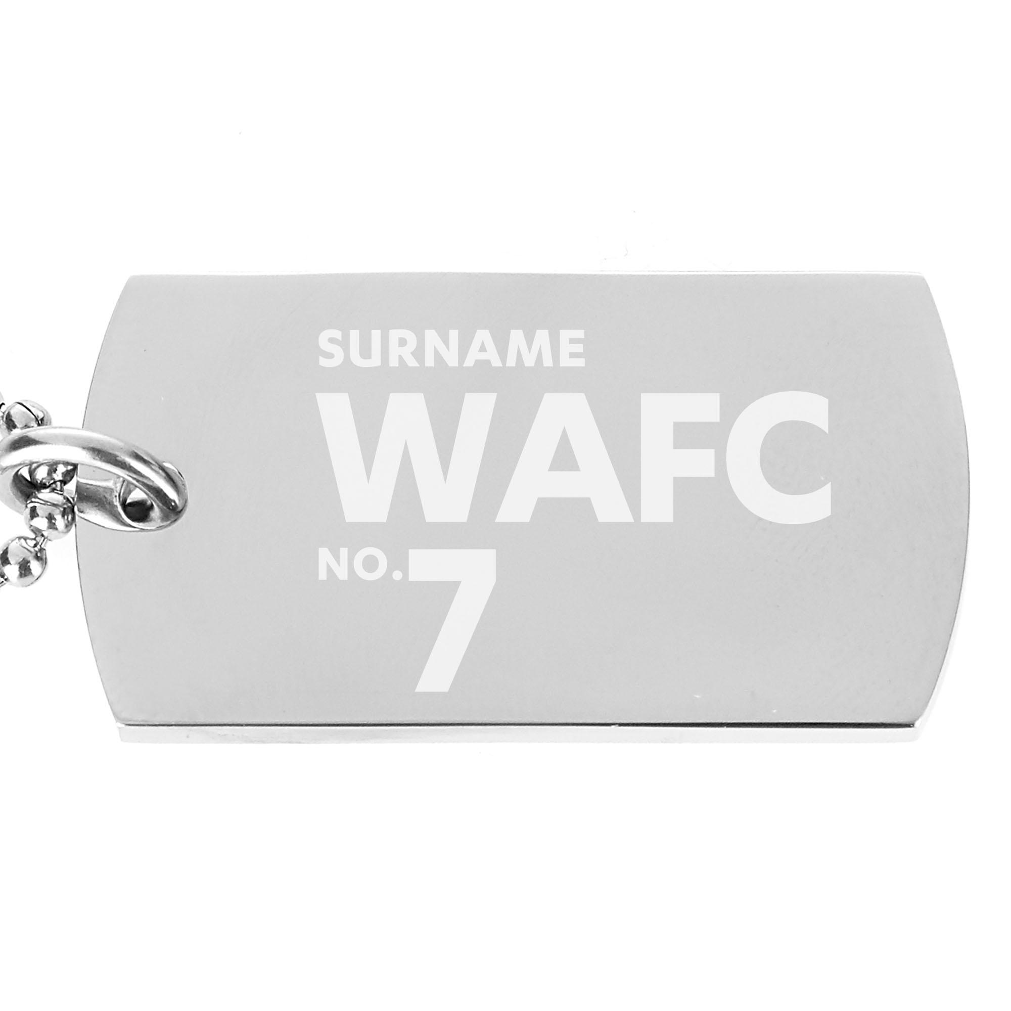 Wrexham AFC Number Dog Tag Pendant