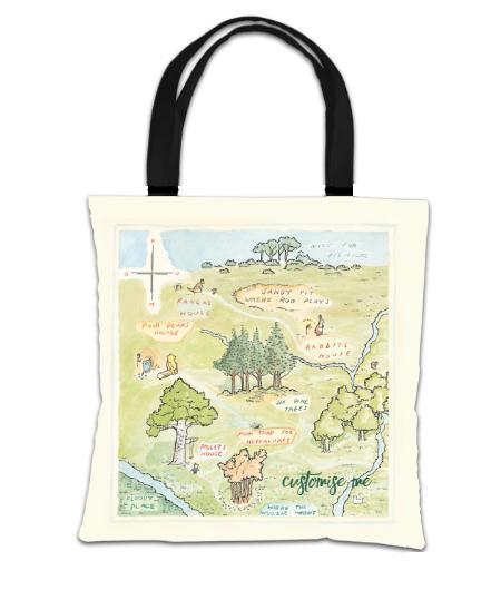 Disney Winnie The Pooh Map Tote Bag