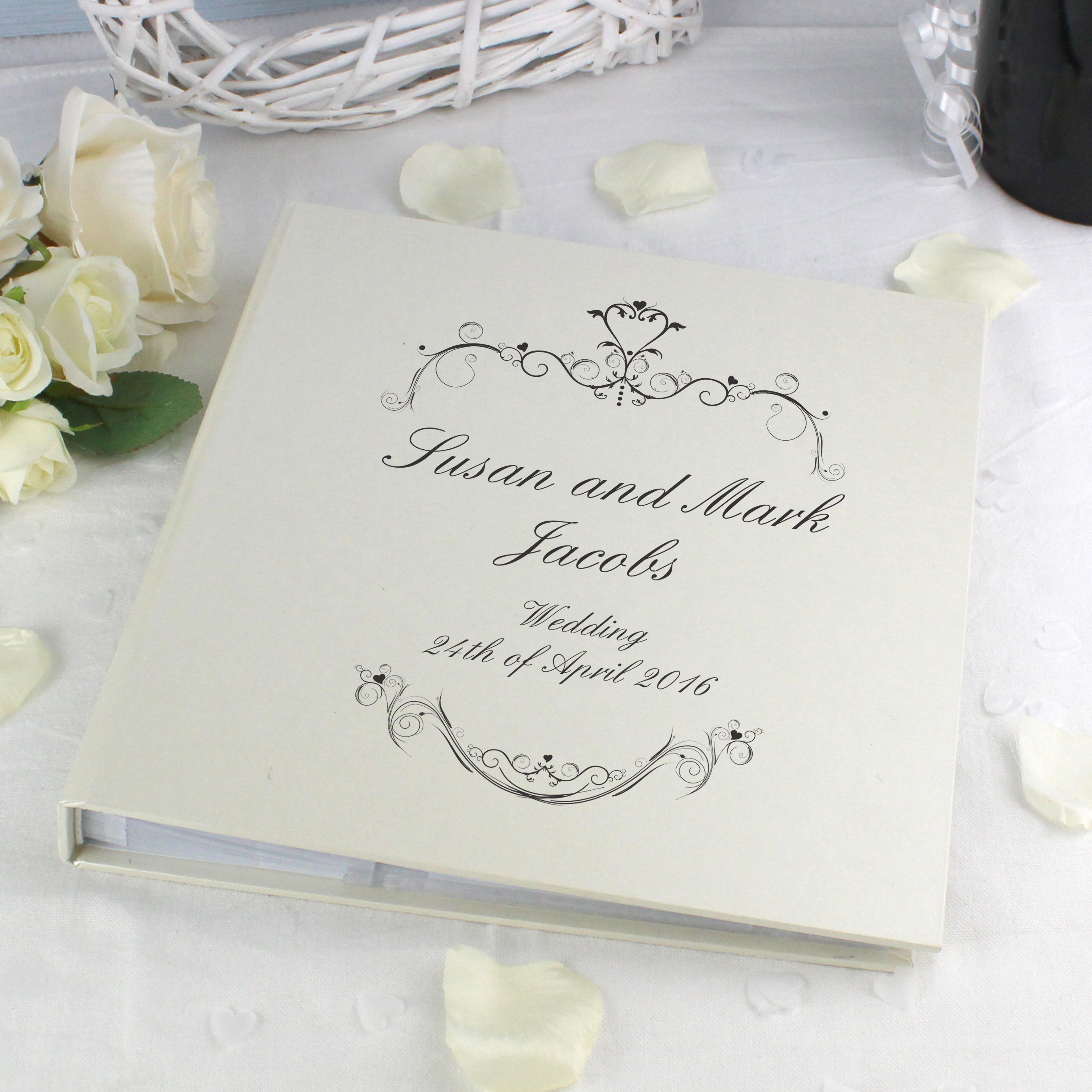 Personalised Black Swirl Album with Sleeves
