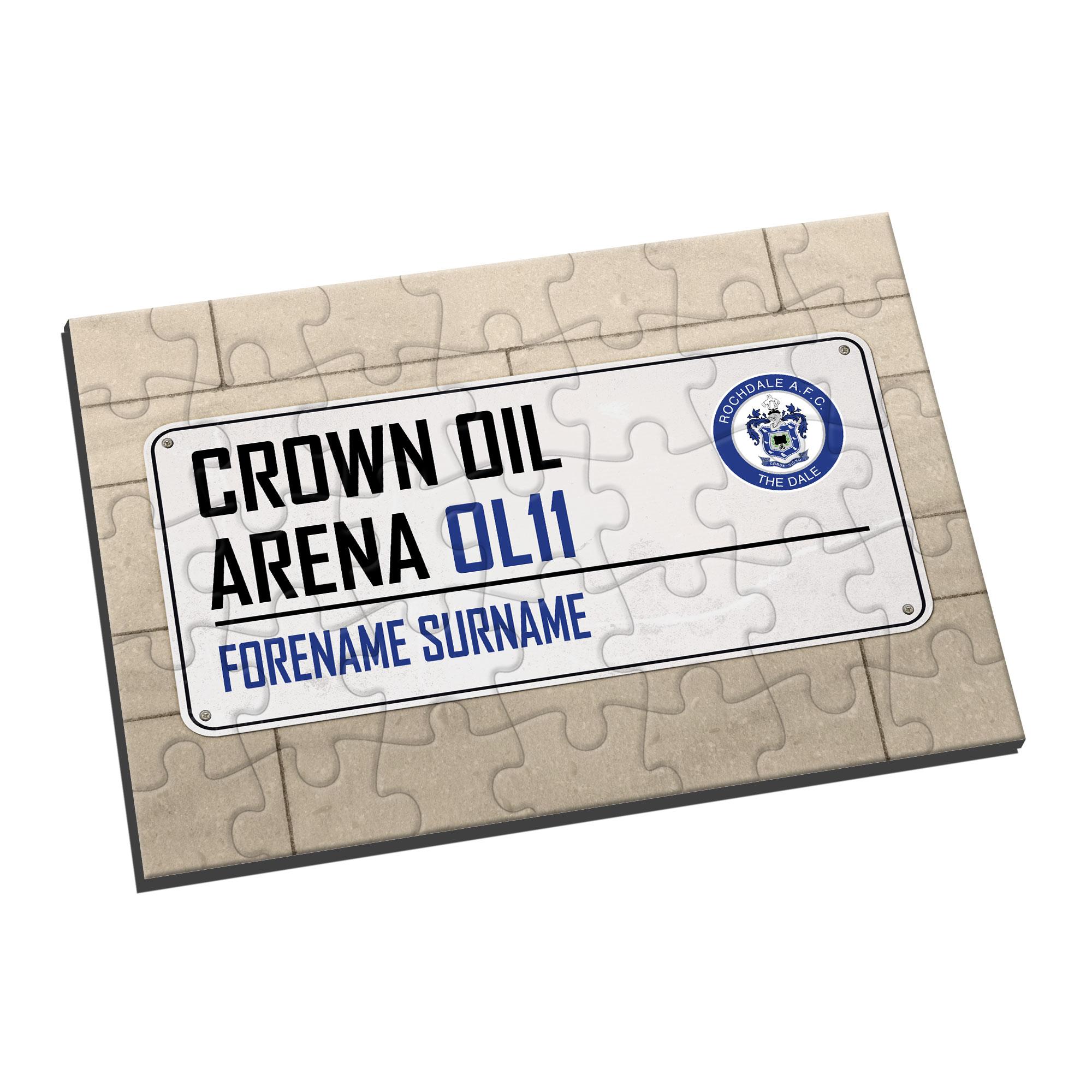 Rochdale AFC Street Sign Jigsaw