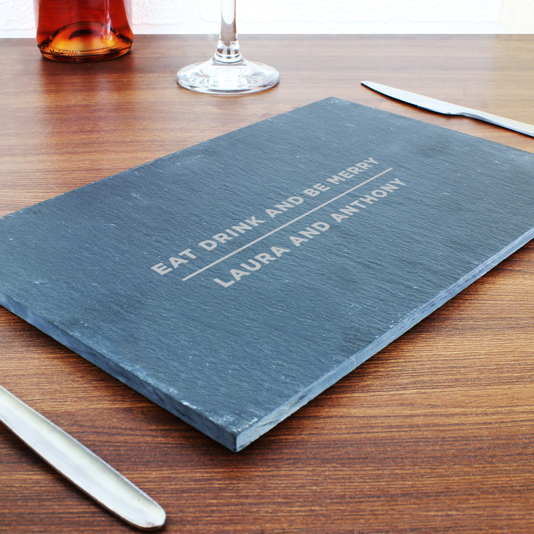Engraved Classic Slate Rectangle Placemat
