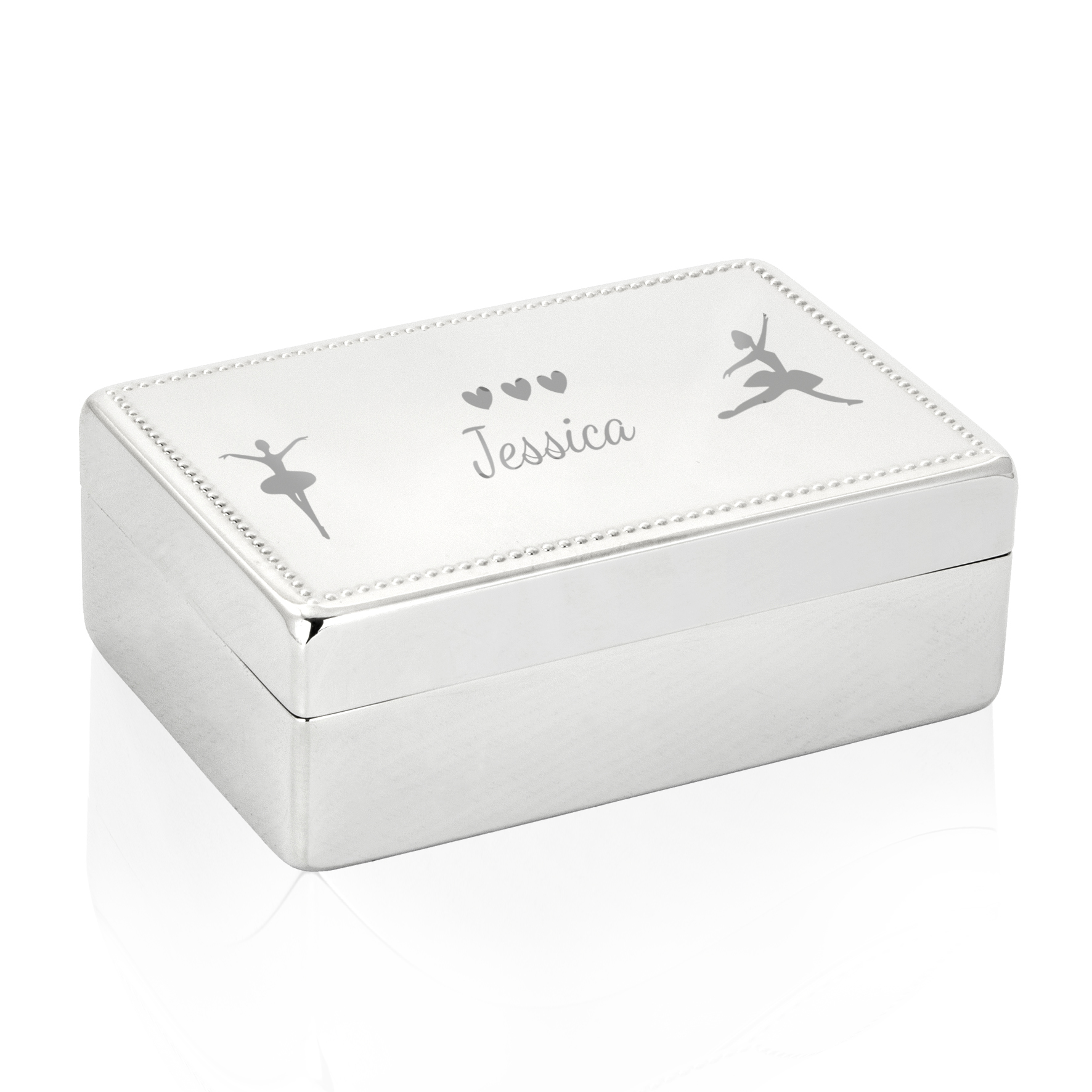 Engraved Ballerina Rectangle Jewellery Box