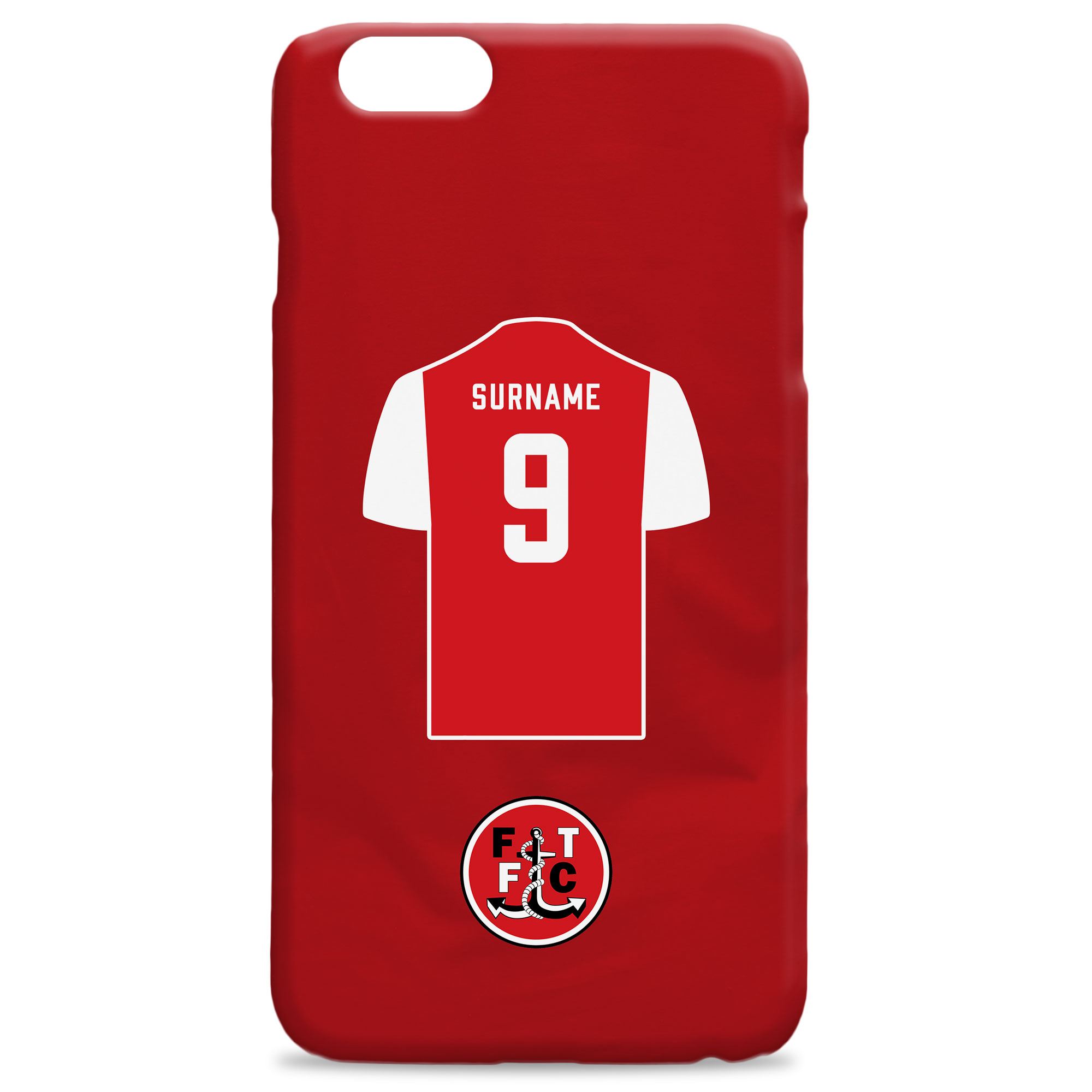 Fleetwood Town FC Shirt Hard Back Phone Case