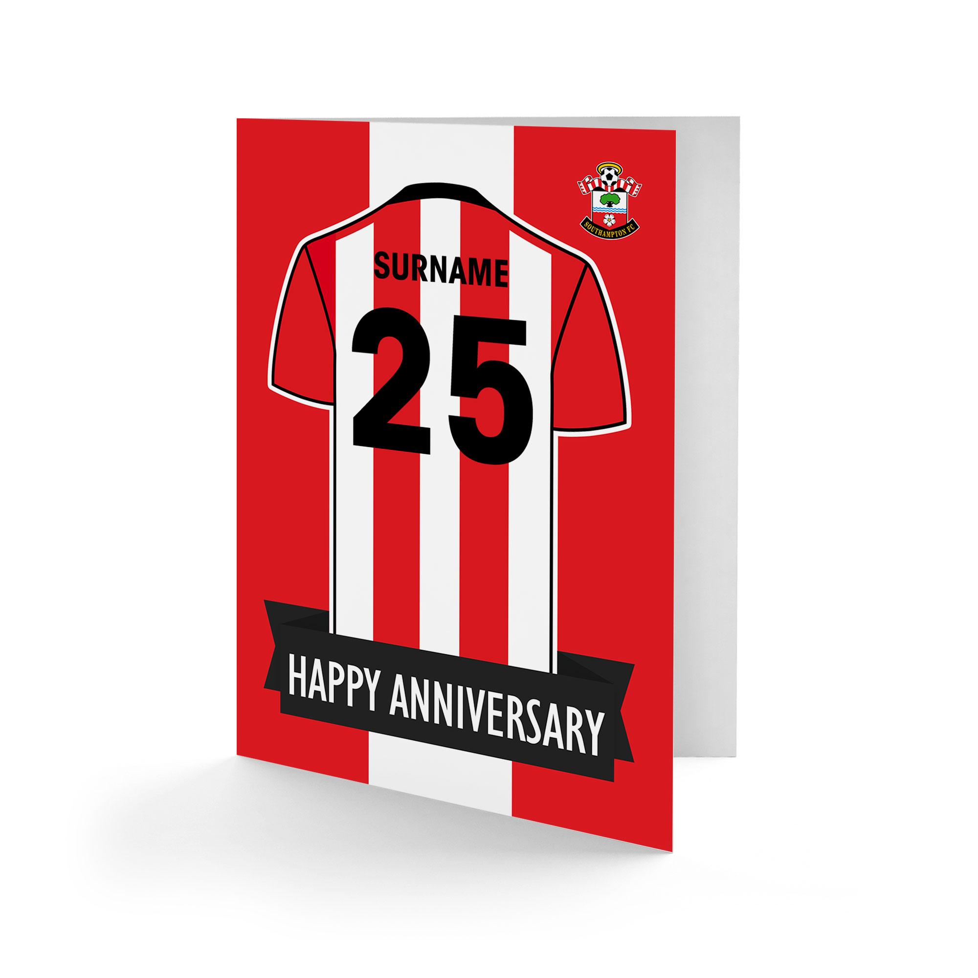 Southampton FC Shirt Anniversary Card