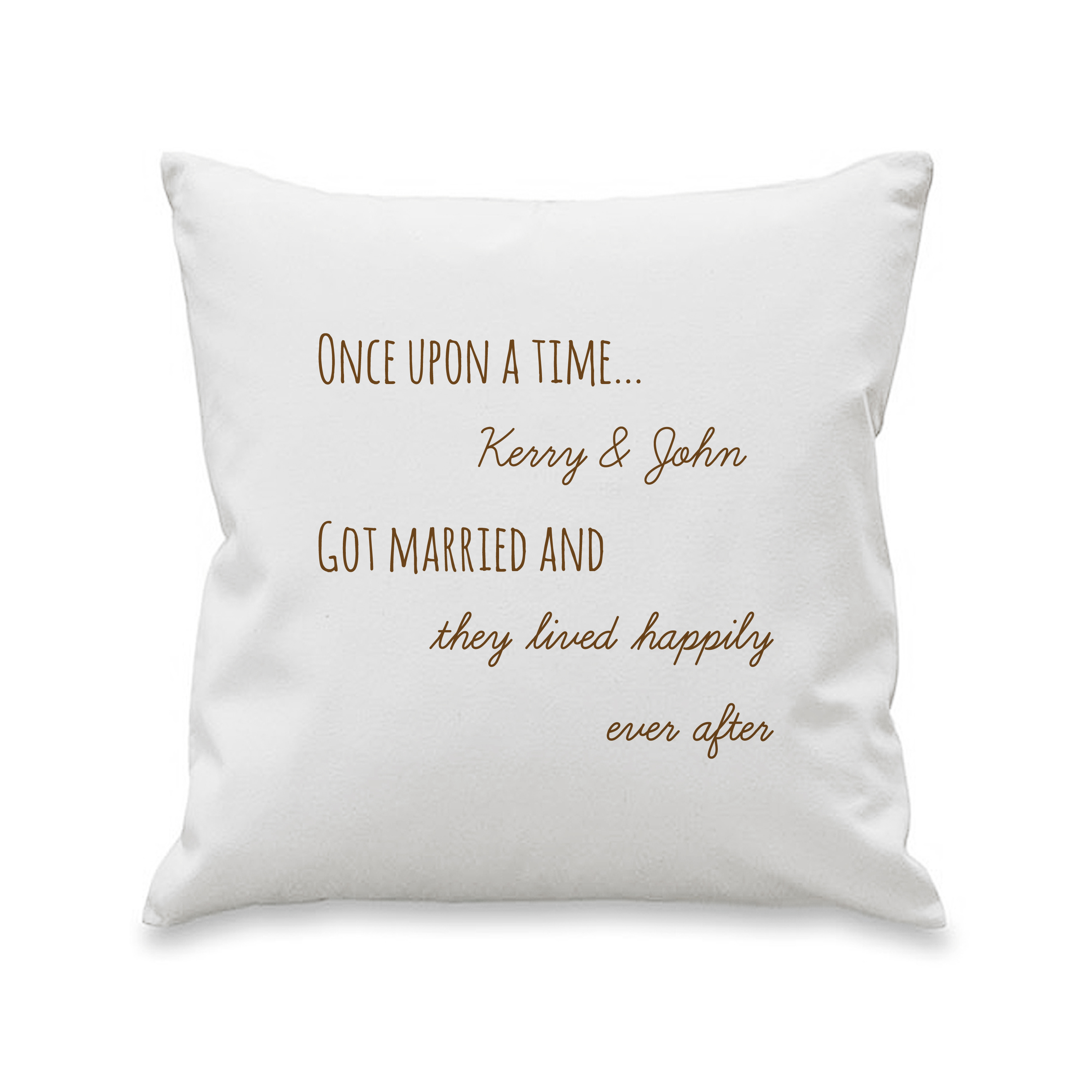 Personalised Mr & Mrs Heart Scroll Cushion Cover (40cmx40cm)