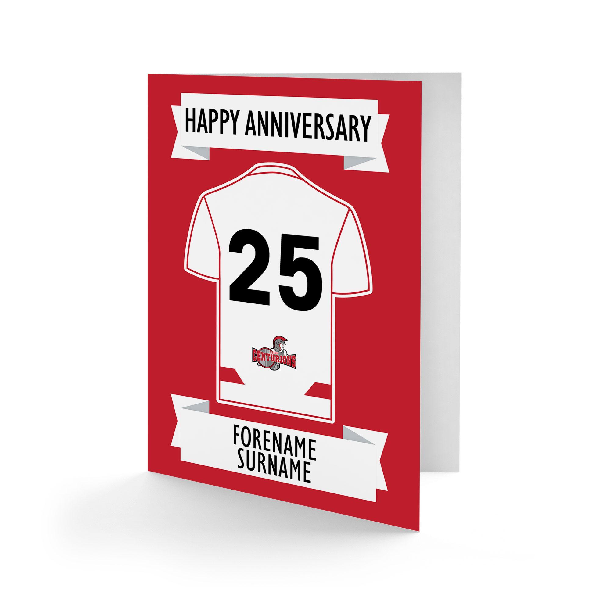 Leigh Centurions Shirt Anniversary Card