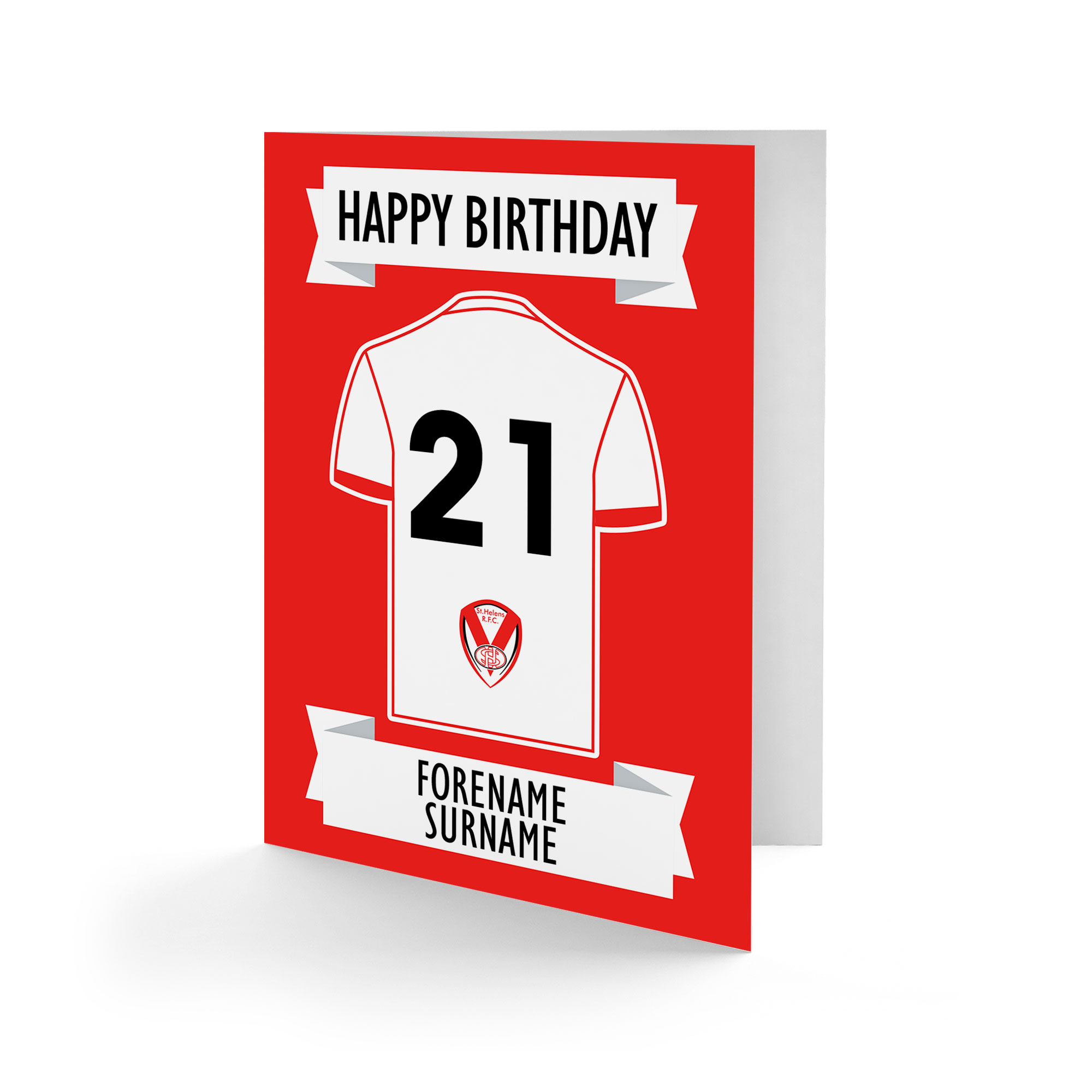 St Helens Shirt Birthday Card