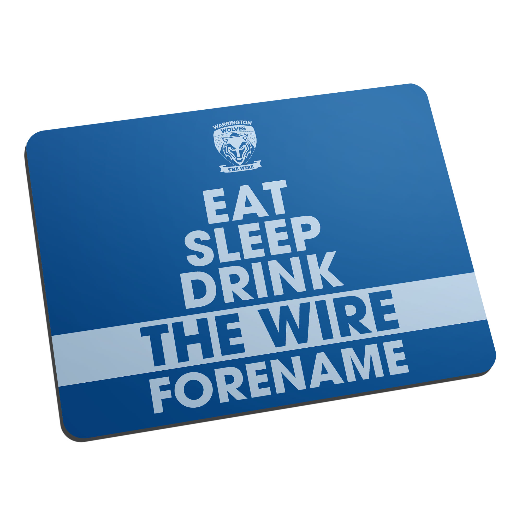 Warrington Wolves Eat Sleep Drink Mouse Mat