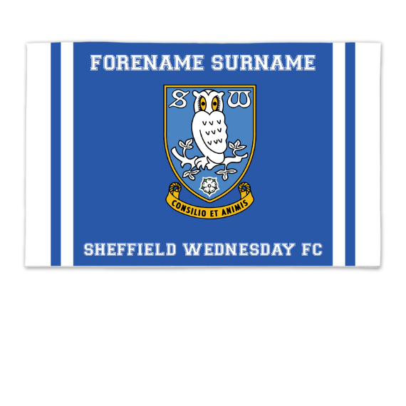 Sheffield Wednesday FC Crest 8ft x 5ft Banner