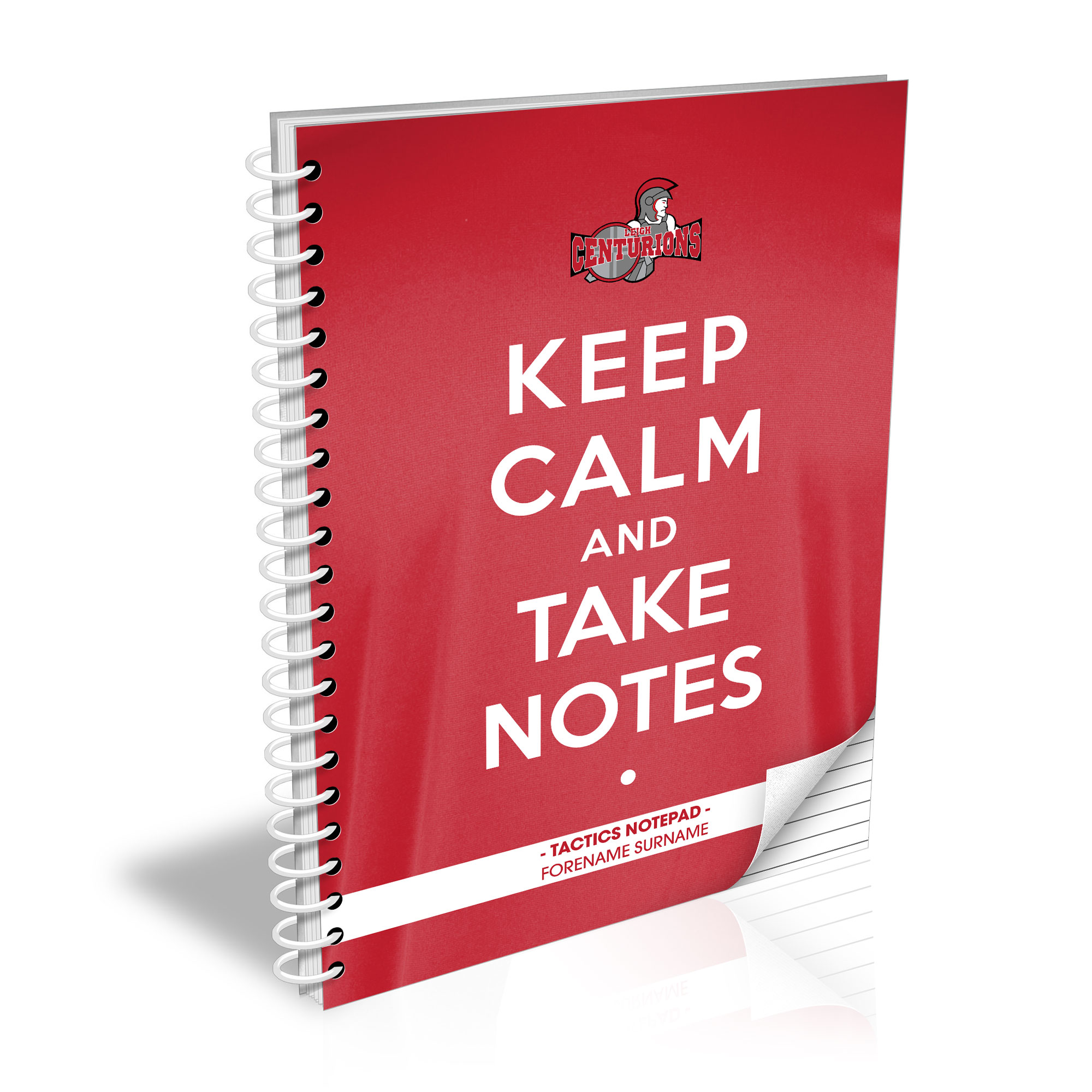 Leigh Centurions Keep Calm Notebook