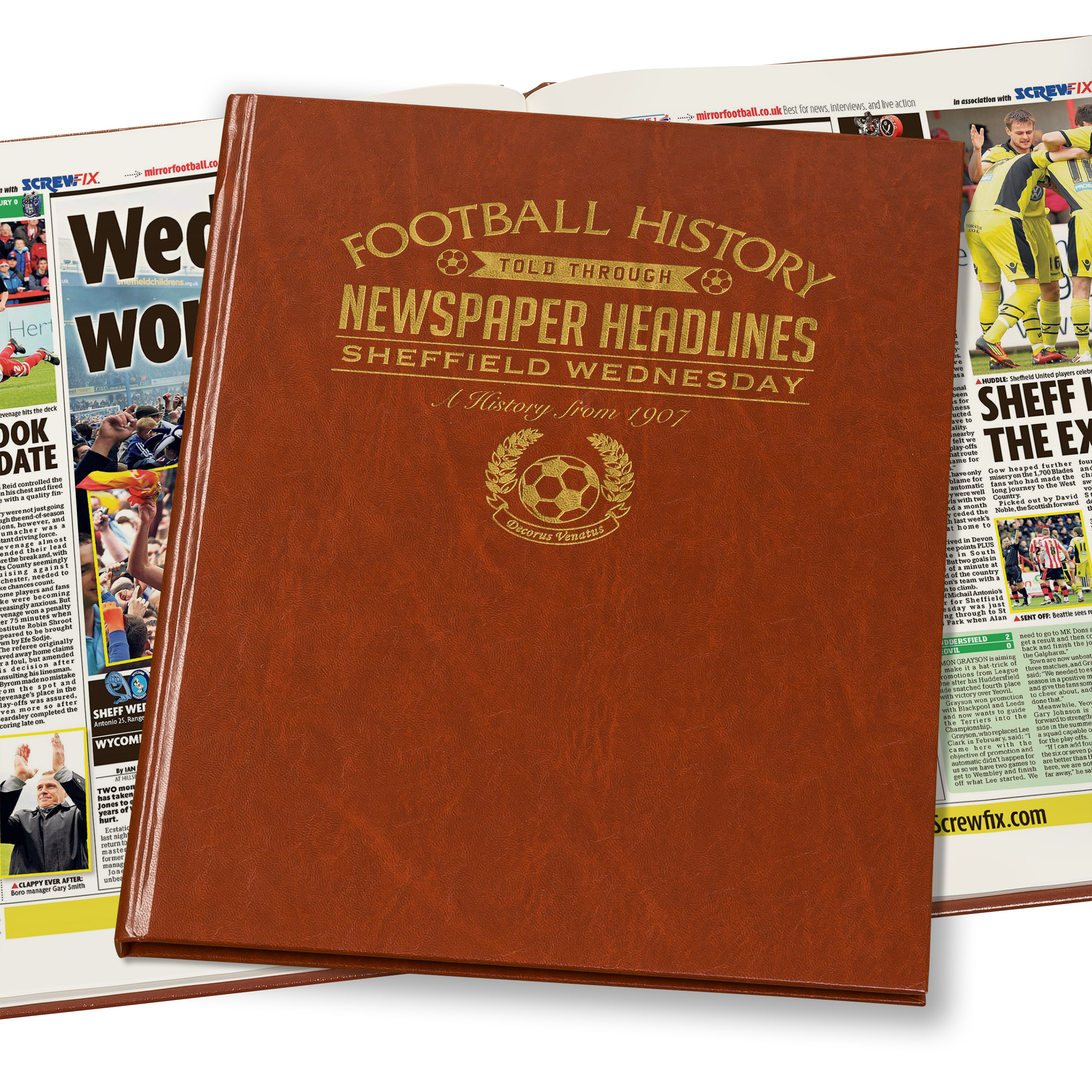 Sheffield Wednesday Newspaper Book (Colour Pages)