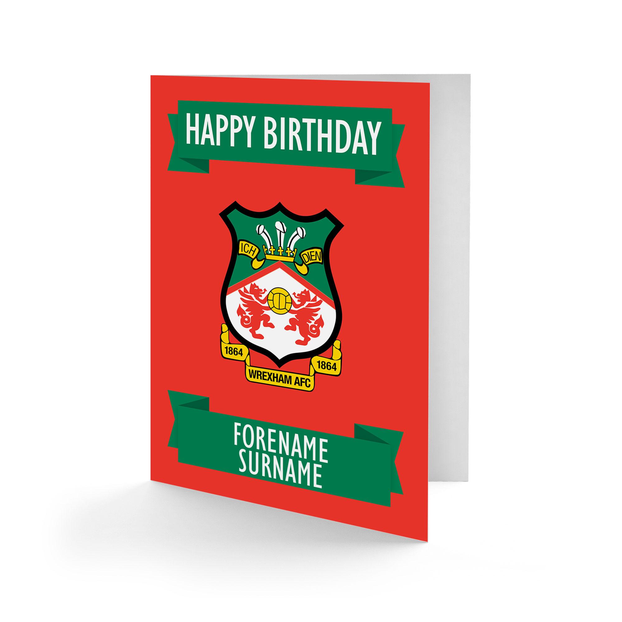 Wrexham AFC Crest Birthday Card