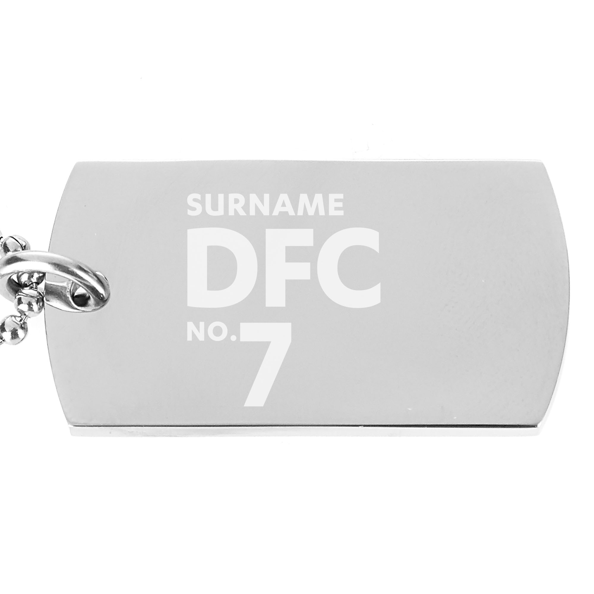 Dundee FC Number Dog Tag Pendant