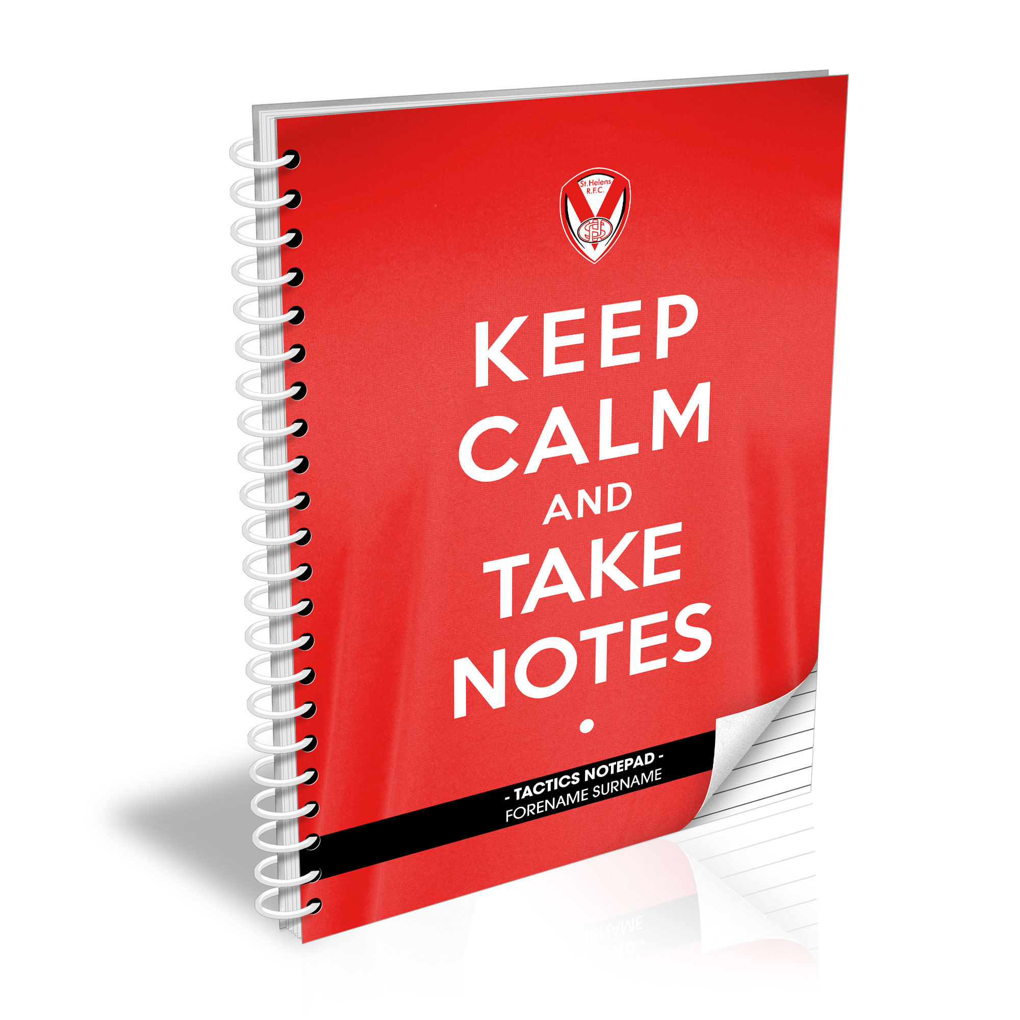St Helens Keep Calm Notebook
