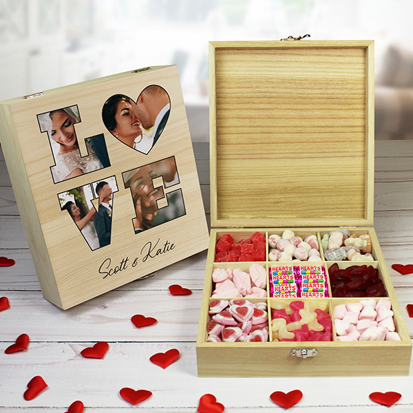 'LOVE' Photo Gift - 9 Compartment Sweet Box