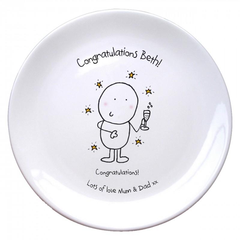 Chilli & Bubble's Congratulations Plate