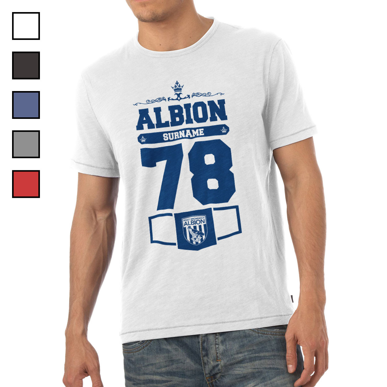 West Bromwich Albion FC Mens Club T-Shirt