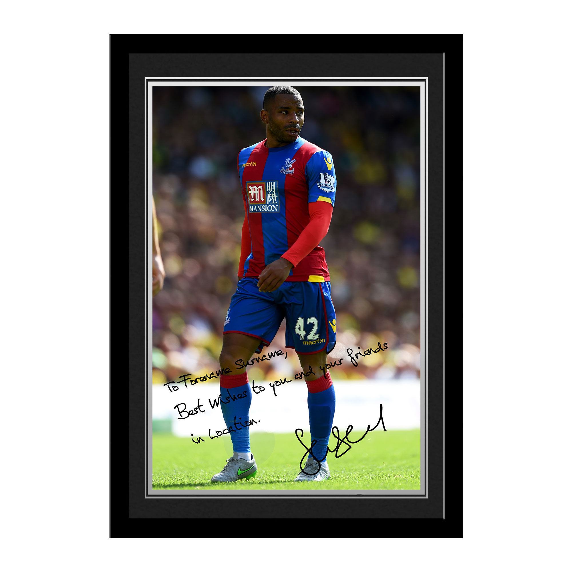 Crystal Palace FC Puncheon Autograph Photo Framed