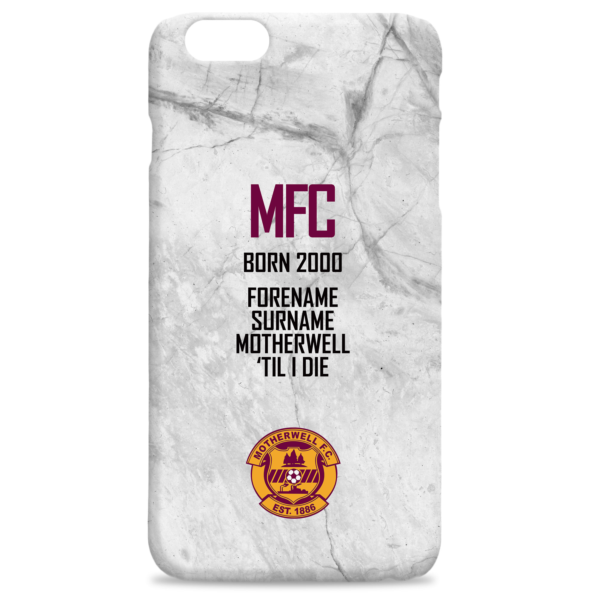 Motherwell FC 'Til I Die Hard Back Phone Case