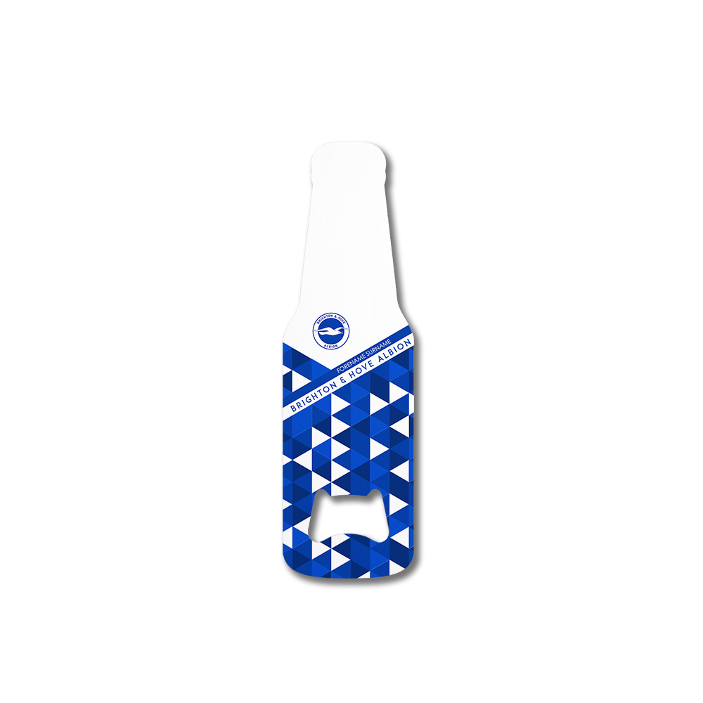 Brighton & Hove Albion FC Patterned Bottle Shaped Bottle Opener