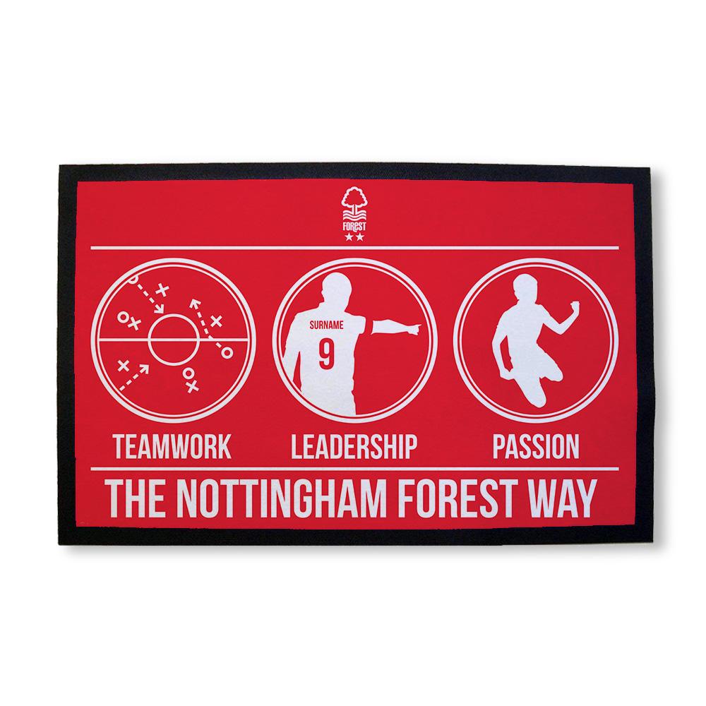 Nottingham Forest FC Way Door Mat