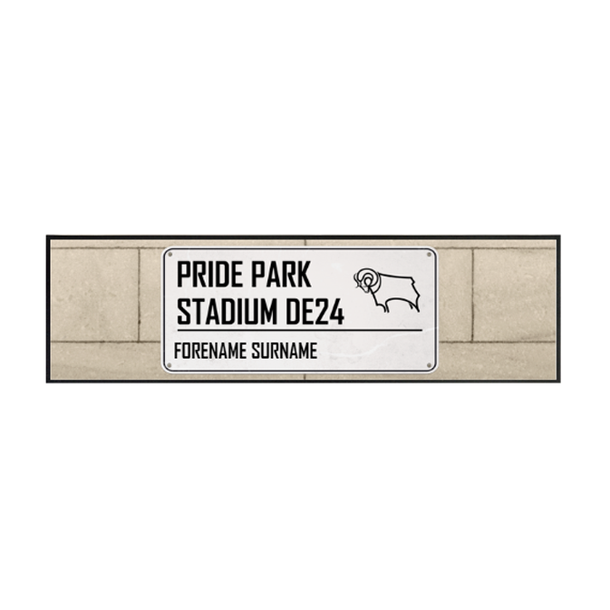 Derby County Street Sign Large Bar Runner