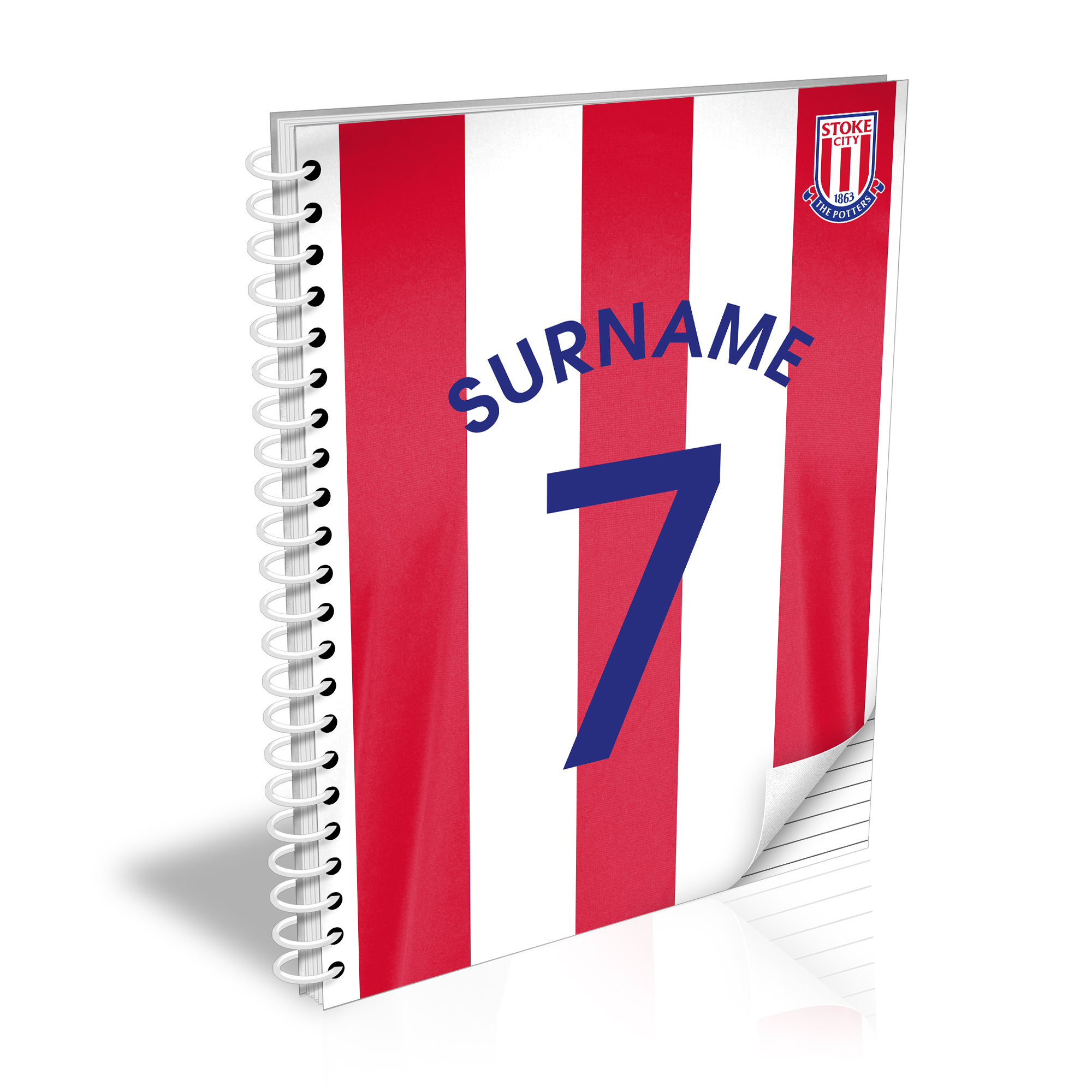 Stoke City FC Shirt Notebook