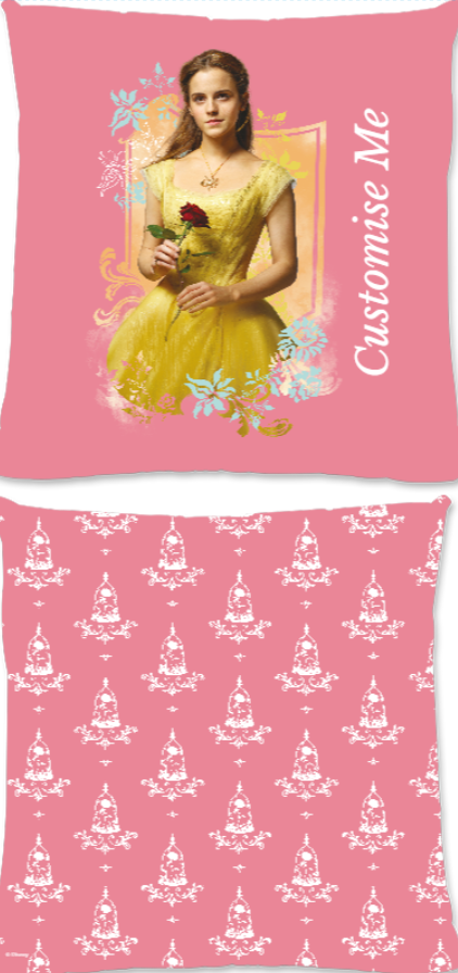 Disney Beauty And The Beast Belle Rose Large Fiber Cushion