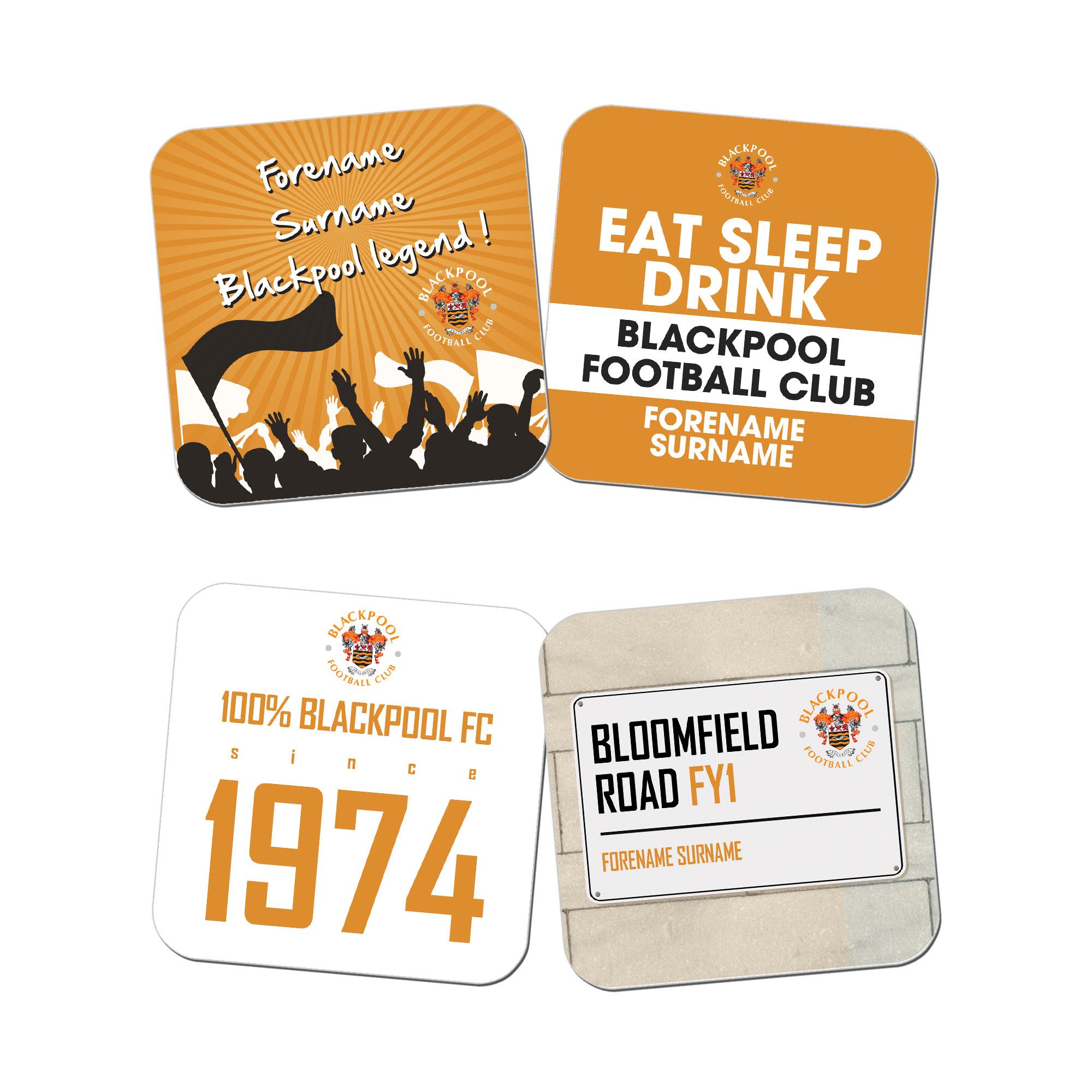 Blackpool FC Coasters